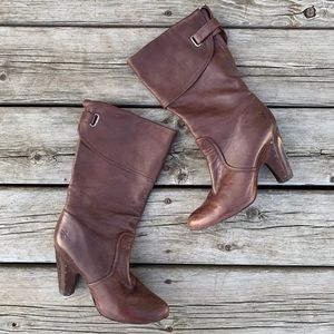 Frye Bethany Cuff Shortie Heeled Boots